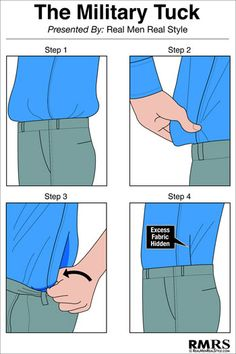 3 rules every man needs to know about tucking in his shirt.
