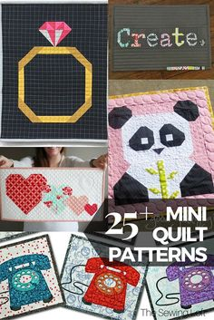 Such an amazing line up of free mini quilt patterns. The photo list make it easy to find the perfect tutorial and get you sewing faster.