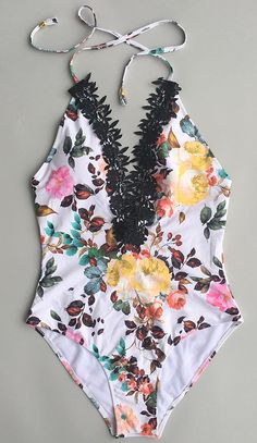 Don't get lost in the sea of people wearing the usual. Make you stylish with Down For You Floral One-piece Swimsuit. Look at these gorgeous flowers and lace! Save more for summer at Cupshe.com !
