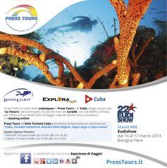 Press Tours sarà presente alla fiera della subacquea a Bologna Eudishow 2014.