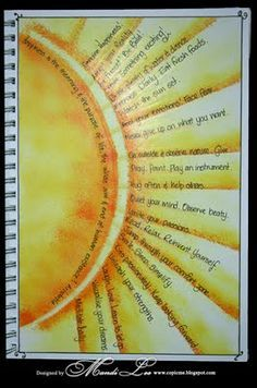 yellow sun rays journaling...thought about using this idea for the beginning of school. Students could add goals and positive thoughts.