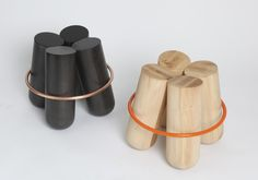 Bolt stool by Note Design Studio for La Chance - www.lachance.fr