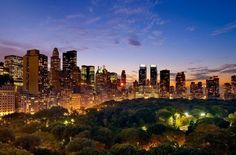 New York at Dusk, USA - (Click the pic for full information of the place and many more)