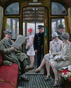"artishardgr: "" Paul Fischer - Copenhagen Tram """