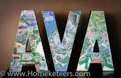 Map Letters--maybe use for some of our Disney maps?