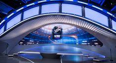Leafs TV studio set - Pesquisa Google Tv Set Design, Stage Design, Ad Sports, Virtual Studio, Tv Sets, Bmw Logo, Canada, Google Search, Night