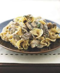 Beef and Mushrooms with Sour Cream - Healthy Recipe Finder Good Healthy Recipes, Healthy Foods To Eat, Healthy Drinks, Healthy Cooking, Healthy Eating, Healthy Options, Easy Recipes, Beef Dishes, Pasta Dishes