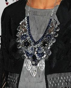Olivia Palermo  Statement Necklaces. Chunky Necklaces. Bib Necklaces. Large Necklaces. Jewelry. Short Hair Accessories. Long Hair Accessories.