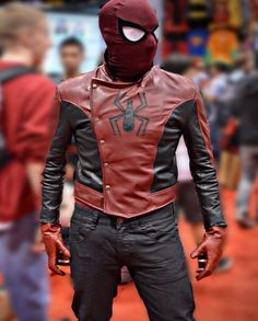 SPIDER MAN LAST STAND LEATHER JACKET Hero Spiderman, Parker Spiderman, Fur Jacket, Jacket Style, Leather Jacket, Parker Jacket, Super Hero Outfits, Last Stand, Leather Men
