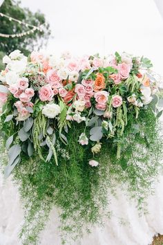 lavish coral and foliage sweetheart table by passion roots   pinky photography
