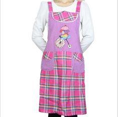 2017 New Arrival Cartoon Women Restaurant Aprons Home Kitchen Apron Adult Bibs Funny Cook Clothing Grembiule Cucina Apron