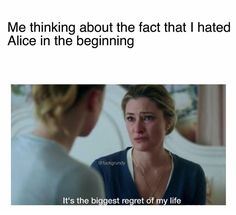 "Honestly I'm back and fourth on Alice. Sometimes I'm like ""fuck yeah Alice fuck it up queen"" and then other times I'm like ""literally fuck off alice oh my fucking god"""