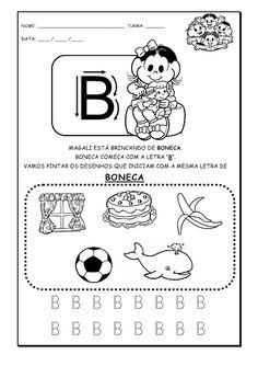 Alfabetizando com Mônica e Turma: Alfabeto - atividades - parte 1