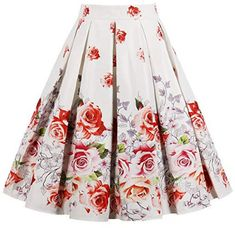ODGear Womens Vintage Floral Print Holiday Sleeveless Tank Short Mini Dress Ladies Pleated Beach Casual Party Swing Dress
