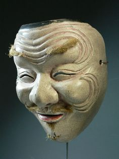 Makes me smile! Japanese Noh mask.