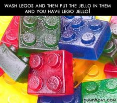 Wash legos, then put jello in them and you have lego jello! Simple Ideas That Are Borderline Crafty – 30 Pics