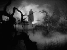 scary Halloween retro nostalgia vampire gothic black and white gif spooky dracula 1940s graveyard classic film columbia bela lugosi Vintage gif cemetary classic movies halloween gif old movies Lew Landers return of the vampire this is such an underrated movie