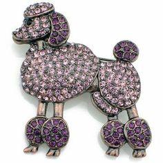Purple Poodle Brooch.