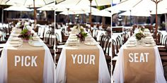 great idea for a casual buffet style wedding