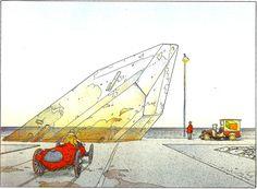 "Moebius - 1986 Exhibition ""Cristaux fous"" (Crazy Crystals) - Strasbourg (France)"