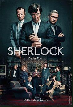 "British TV show- ""Sherlock"" of Benedict Cumberbatch in it, make it bloody awesome ♥♥ Sherlock Fandom, Sherlock Holmes Season 4, Shinee Sherlock, Sherlock Holmes Serie, Sherlock Holmes Wallpaper, Sherlock Holmes Dibujos, Sherlock Comic, Sherlock Poster, Sherlock Series"