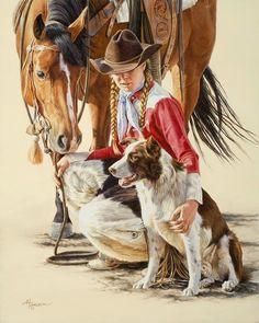 art Ann Hanson | As Good As It Gets ... it's so dang hard when ya lose one ..............
