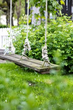 .I think a swing would be lovely in the backyard, if only we had a big tree.