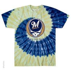 d53a37cad1a8cf #GratefulDead STEAL YOUR BASE #MilwaukeeBrewers Tie Dye Shirt #MLB #Brewers  #MillerPark