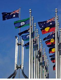 NAIDOC week flags, Australian Parliament House, Canberra