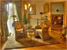 49e03817885 Charming Cottage Style Parlor... the golden glow make this room so warm and