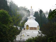 Peace Pagoda, Dajeeling, West Bengal  #IncredibleIndia