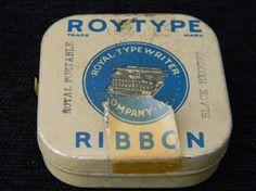 Vintage Roytype Ribbon Tin Royal Typewriter Co by VogelHausVintage, $5.00