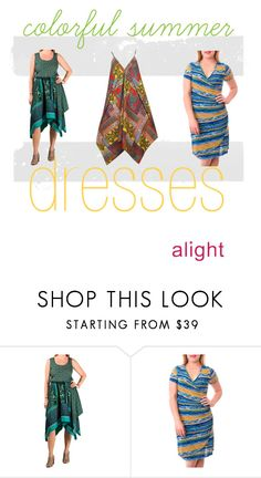 """""""plus size colorful summer dresses"""" by alight-com on Polyvore"""