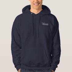 Sweatshirt Hoodie in Navy - Men's