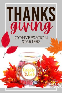 Thanksgiving Conversation Starters to ask your family over the table at Thanksgiving dinner. Dating Divas, Conversation Starters, Free Printables, Thanksgiving, Thankful, Activities, Fun, Crafts, Manualidades