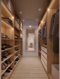 walk-in closet design for apartment Closet Walk-in, Closet Bedroom, Closet Space, Closet Ideas, Bedroom 2018, Bedroom Storage, Master Bedroom, Attic Storage, Master Closet
