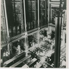 Looking down at the reading area in the Main Hall. | 15 Gorgeous Photos Of The Old Cincinnati Library