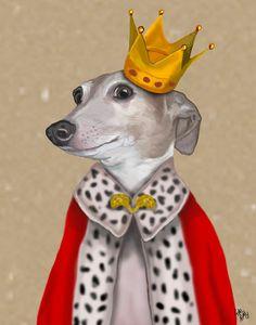 Greyhound Queen 14x11 Art Print Art Giclee Print