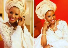 African Wedding - Bride in traditional engagement wear