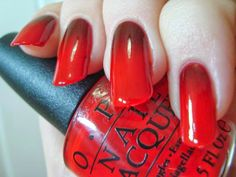 OPI Red Hot Rio and I Sing In Color gradient *click for more*