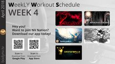 Weekly Workout Schedule, Ugly To Pretty, Fun Workouts, Being Ugly, Devil, App, How To Plan, Apps, Demons