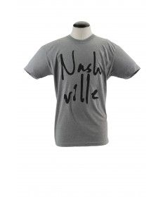 """Local brand DCXV brings us a unique, simple design handmade here in Music City. Printed on a supersoft unisex American Apparel tri-blend tee, it features the artist's own handwritten """"Nashville."""" Wear it with pride."""