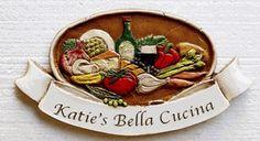 Personalized Italian Tuscan Kitchen Decor Sign  item 617P
