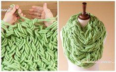 вязание на руках шарф мастер-класс