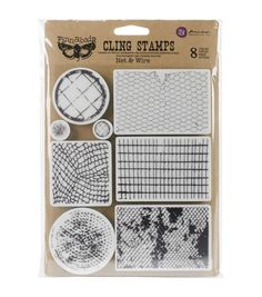 Fun and simple to apply, the Prima Marketing Finnabair Clear Stamp-Net  and  Wire is perfect for a variety of classroom projects. Be it designing cards, scrapbooks, notebook pages or wall displays, th