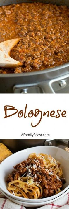 Bolognese - A classic Italian meat sauce with incredible flavor and texture.