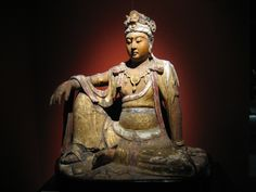 GUANYIN   ... 14th Century: wood carving of the Bodhisattva of compassion, Guanyin