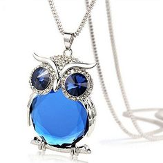 Ularmo 2015 New Hot Fashion Women Owl Pendant Sweater Cha