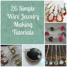 26 Beginner Wire Tutorials   Free   http://www.allfreejewelrymaking.com/Wire-Wire-work/13-Simple-Wire-Jewelry-Making-Instructions-for-Beginners