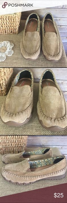 Skechers Relaxed Fit Slip on Sz 7.5 These are in like new condition, Skechers Relaxed Fit with memory foam.  Suede leather upper Sz 7 1/2. S14 Skechers Shoes Flats & Loafers
